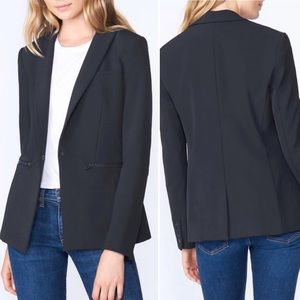Veronica Beard Scuba Dickey Jacket Blazer Black 12